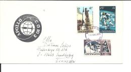 Lettre    Ascension  1975  , Espace,    Apollo Soyuz (437) - Ascension (Ile De L')