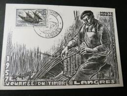 JOURNEE DU TIMBRE LANGRES 1957 - Journée Du Timbre