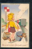 6516 - CPA Illustrateur I.D.A.  Train , Système (chien Dans Panier) - Met Mechanische Systemen