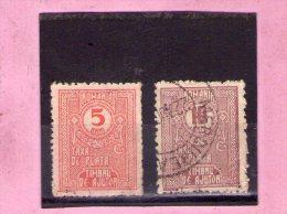 1920 - Timbres TAXE  - Mi No 9/10 Et Yv No 67/68  AUSGABEN - Portomarken