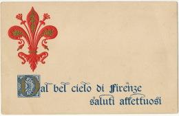Art Card Embossed Dal Bel Cielo Di Firenze Edit Ugo Mugnaini  Gaufrée - Firenze (Florence)