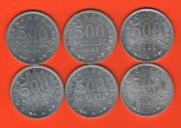 ALEMANIA GERMANY DEUTSCHLAND   - Weimar  500 Mark 1923  A    Alu  KM36  J305 - [ 3] 1918-1933 : República De Weimar
