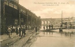SAINT LOUIS   LOUISIANA EXIBITION 1904      LEVEE DURING FLOOD 1903 - St Louis – Missouri