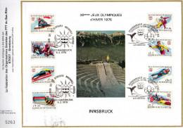 Feuillet Tirage CEF XIIèmes Jeux Olympiques D´hiver 1976 Innsbruck Montréal - Estate 1976: Montreal