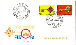 EUR68-L7 - LUXEMBOURG FDC EUROPA 1968 - FDC