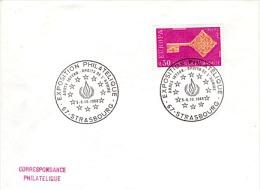 EUR68-L10 - FRANCE Exposition Philatélique Année Internationale Des Droits De L'Homme Strasbourg 1968 - Europäischer Gedanke