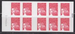 = Marianne De Luquet Dite Du 14 Juillet, TVP Carnet  X10 Autocollant Rouge Neuf N° 3419-C5 Un Siècle De Transport - Carnets