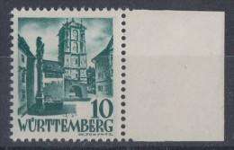 Württemberg Minr.33 SR Postfrisch - Zona Francese