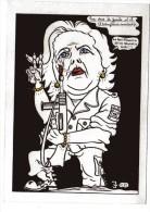 Margaret Thatcher  Par LARDIE Illustrateur Satirique ( Spécimen Presse Avec Signature ) - Lardie