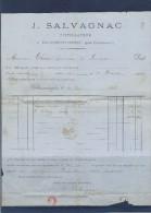 Facture Salvagnac Distillateur à Villemoustassou (Aude) 1883 - Invoices