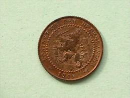 1907 - 1 Cent / KM 132.1 ( Uncleaned - For Grade, Please See Photo ) ! - [ 3] 1815-…: Königreich Der Niederlande