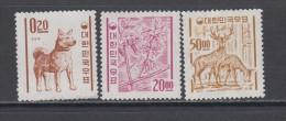 1963 - 1961    YVERT  Nº 296A , 303 , 305    / ** / - Korea (Zuid)