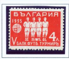 BULGARIA  -  1935  Football  4l  Mounted Mint - 1909-45 Kingdom