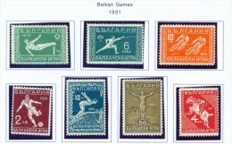 BULGARIA  -  1931  Balkan Games  Mounted Mint - Unused Stamps