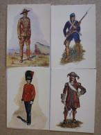 Carte Postales 1 Et 2 D´uniformes Militaires Du Canada - Uniformes