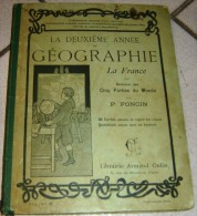 Geographie, Premiere Annee, Cours Moyen P FONCIN ARMAND COLIN 1903 - Other