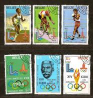 Belize 1981 Yvertn° 527-32 (°) Used  Cote 4,50 Euro Sport - Belize (1973-...)