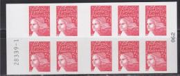 Marianne De Luquet Dite Du 14 Juillet, TVP Carnet  X10 Autocollant Rouge Neuf N° 3419-C7 Vie Quotidienne Le Siècle Au Fi - Carnets