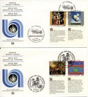 VN - 2 FDC´s Blanco / Open Klep - 1993 - Gezamelijke Uitgaven New York/Genève/Wenen