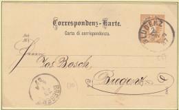 Österreich(V96)Correspondenz-Karte Von 1887Von Bludenz Nach Bregenz - Storia Postale