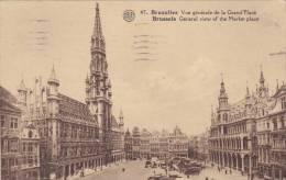 CPU17/lot  2 Cpa Bruxelles Avec Cachet Chocolaterie De Pauw Avec Timbre Français - Belgique