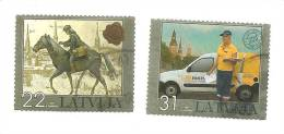 Latvia / Lettonia / Lettland – WOMAN POSTMAN - HORSE - RIDER  2007  (0) - Latvia