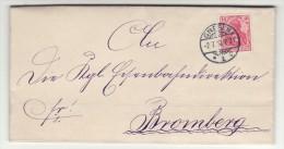 POLAND / GERMAN ANNEXATION 1910  LETTER  SENT FROM  GNIEZNO  TO  BYDGOSZCZ - ....-1919 Übergangsregierung