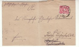 POLAND / GERMAN ANNEXATION 1888  LETTER  SENT FROM  WIELEN  TO  POZNAN - ....-1919 Übergangsregierung