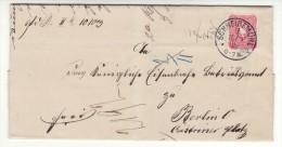 POLAND / GERMAN ANNEXATION 1888  LETTER  SENT FROM  PILA  TO  BERLIN - ....-1919 Übergangsregierung