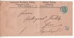 POLAND / GERMAN ANNEXATION 1908  LETTER  SENT FROM  POZNAN - ....-1919 Übergangsregierung