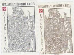 SMOM-1980 Christmas 184-185 Set MNH - Malte (Ordre De)