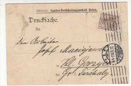 POLAND / GERMAN ANNEXATION 1910  POSTCARD  SENT FROM  POZNAN TO GORZYCE - ....-1919 Übergangsregierung