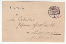 POLAND / GERMAN ANNEXATION 1904  POSTCARD  SENT FROM  POZNAN TO MARIANOWO - ....-1919 Übergangsregierung