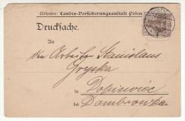 POLAND / GERMAN ANNEXATION 1908  POSTCARD  SENT FROM  POZNAN TO DOPIEWIEC - ....-1919 Übergangsregierung