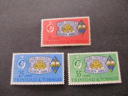 TRINIDAD & TOBAGO - 1964 Girl Guides  - Sc 113/115 Mh* - Trinidad & Tobago (1962-...)