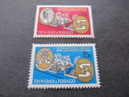 TRINIDAD & TOBAGO - 1969 ILO - Sc 160/161 Mh* - Trinidad & Tobago (1962-...)