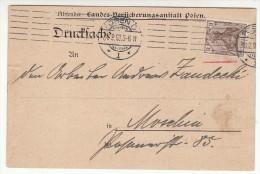 POLAND / GERMAN ANNEXATION 1900  POSTCARD  SENT FROM  POZNAN TO MOSINA - ....-1919 Übergangsregierung