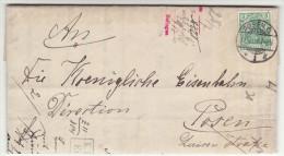 POLAND / GERMAN ANNEXATION 1903 LETTER  SENT FROM  POZNAN TO POZNAN - ....-1919 Übergangsregierung