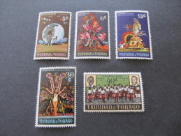 TRINIDAD & TOBAGO - 1970 Christmas - Sc 191/195 Mh* - Trinidad & Tobago (1962-...)