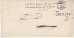 POLAND / GERMAN ANNEXATION 1904 LETTER  SENT FROM  OSTROW TO WROCLAW - ....-1919 Übergangsregierung