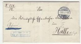 POLAND / GERMAN ANNEXATION 1910  LETTER  SENT FROM  OSTROW TO HALLE - ....-1919 Übergangsregierung