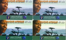 CARTES PREPAYEES ETHNIQUES AFRIQUE  VECTONE  7,50e  Bonjour Afrique  (lot De 4)  1729 - France
