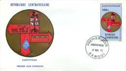 Rép. CENTREAFRICAINE  1972  Europe - Afrique  Poste Aérienne   FDC - Central African Republic