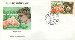 Rép. CENTREAFRICAINE  1973  Europafrique   Poste Aérienne   FDC - Central African Republic