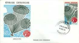 Rép. CENTREAFRICAINE  1973  Apollo XVII Espace    Poste Aérienne   FDC  Space - Central African Republic
