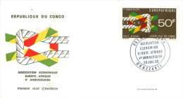 RÉP. DU CONGO  1968   Europafrique  FDC  Poste Aérienne - FDC