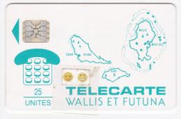 WF1A - Carte Des Iles / Leu Vert - SC 5 - 25 U - Sup - Wallis And Futuna