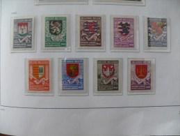 """België 1940 ** MNH Cob 538/546  """" Secours D'Hiver I / Armoiries  """"  Cat: 11,50 Euro - Neufs"""