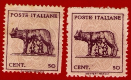 61 ~~ 1944 ~~ ITALIE  N°  451 / 51A Neufs Sans  Gomme - Nuevos