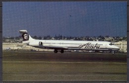 Carte Postale - Douglas MD-82 - Alaska Airlines - San Diego 12/1990 - Neuve - 1946-....: Ere Moderne